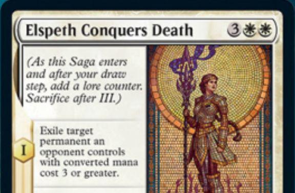 【Elspeth Conquers Death】MTG「テーロス還魂記」収録の白レア英雄譚が公開!エルズペスが死を克服!