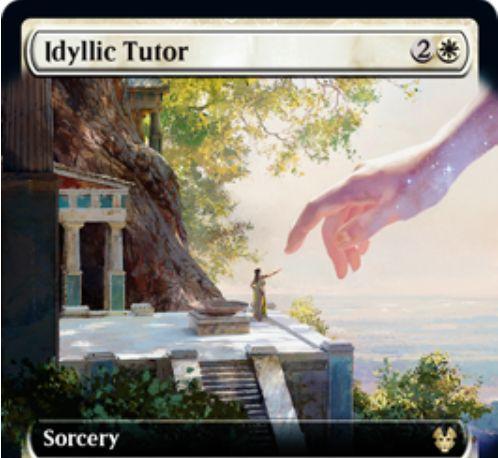 牧歌的な教示者(Idyllic Tutor)がテーロス還魂記にモーニングタイドより新規アートで再録!
