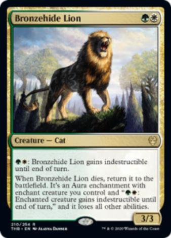Bronzehide Lion(テーロス還魂記)