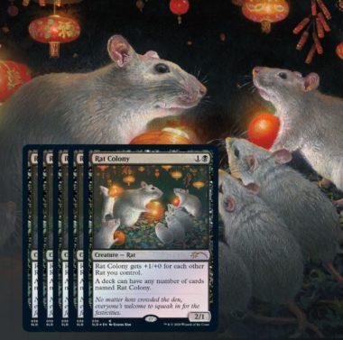《ネズミの群棲/Rat Colony》:Secret Lair「Year of the Rat」収録