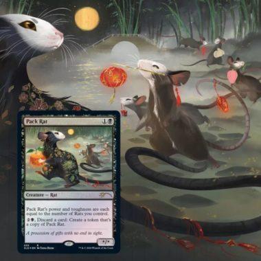 《群れネズミ/Pack Rat》:Secret Lair「Year of the Rat」収録