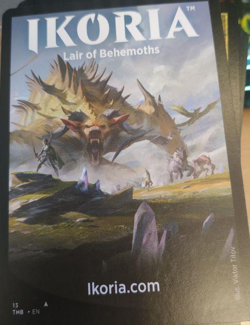 MTG「イコリア:巨獣の棲処」の宣伝カード(テーロス還魂記)