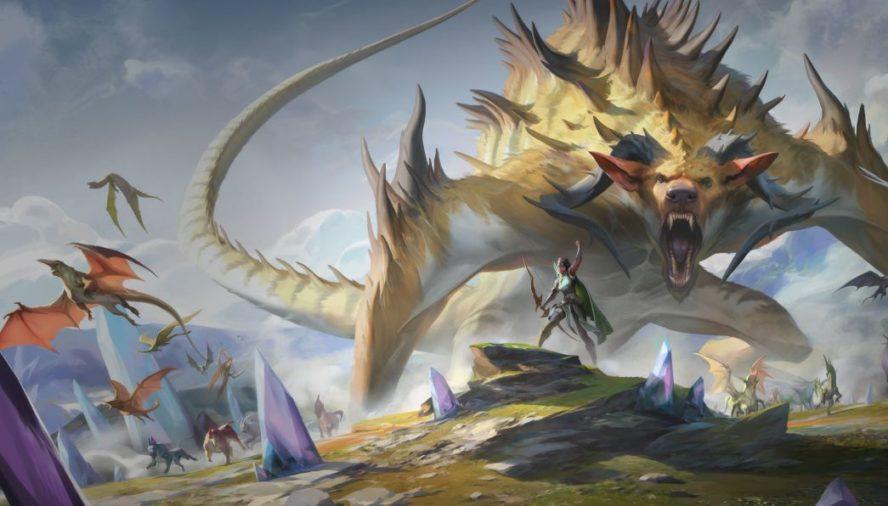 ビビアン&巨獣(イコリア:巨獣の棲処 イメージイラスト)