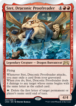 (Stet, Draconic Proofreader):Unsanctioned