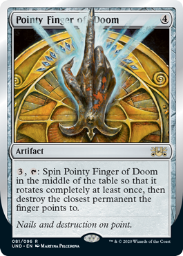 (Pointy Finger of Doom):Unsanctioned