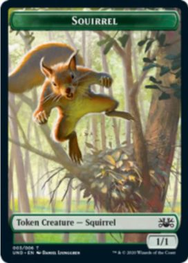 Squirrel(リス)トークン:MTG「Unsanctioned」収録