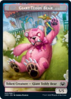 Giant Teddy Bear(巨大テディベア)トークン:MTG「Unsanctioned」収録