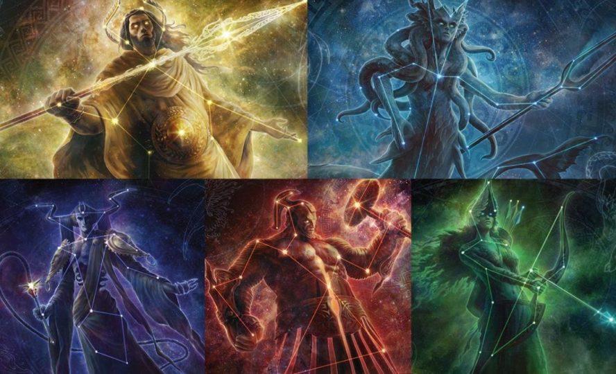 【Theros Stargazing】MTG「Secret Lair」の新製品「Theros Stargazing」が公開!テーロス次元の神々が星座アート仕様で収録!