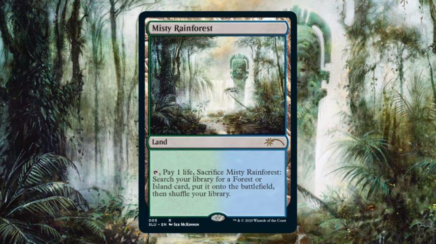 霧深い雨林/Misty Rainforest(Secret Lair版)のアートが、アーティスト「Seb McKinnon」氏の公式Twitterにて公開!