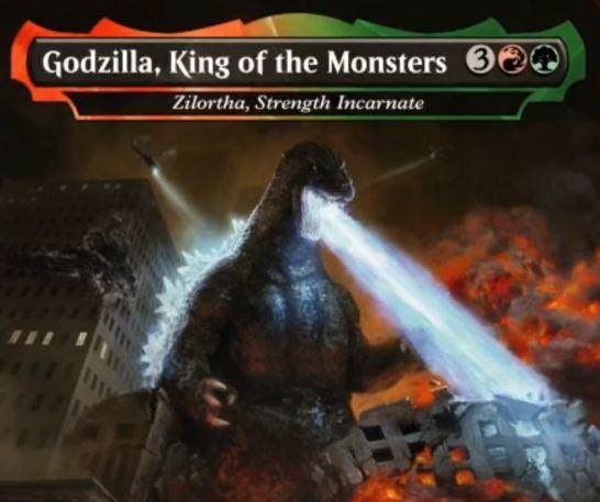 【Godzilla, King of the Monsters】MTG「イコリア:巨獣の棲処」収録の赤緑伝説神話恐竜が公開!ゴジラとのコラボが実現!
