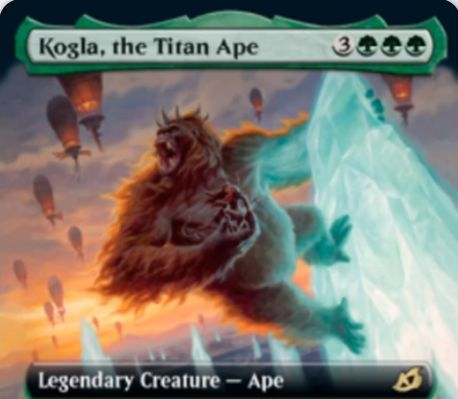 【Kogla, the Titan Ape】MTG「イコリア:巨獣の棲処」収録の緑単伝説類人猿が公開!キングコングのような一枚!