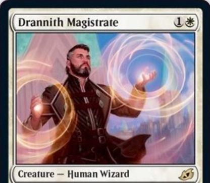【Drannith Magistrate】MTG「イコリア:巨獣の棲処」収録の白単人間ウィザードが公開!2マナ1/3&対戦相手が手札以外から呪文を唱えることを禁じる!