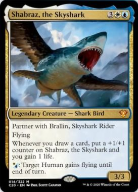 (Shabraz, the Skyshark):統率者2020(イコリア統率者デッキ)収録