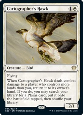 (Cartographer's Hawk):統率者2020(イコリア統率者デッキ)収録