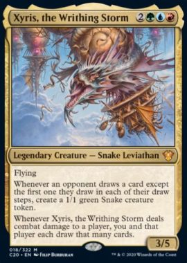 (Xyris, the Writhing Storm):統率者2020(イコリア統率者デッキ)収録