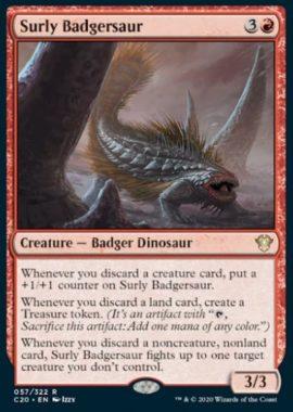 (Surly Badgersaur):統率者2020(イコリア統率者デッキ)収録