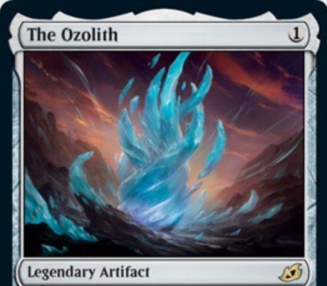 【The Ozolith】MTG「イコリア:巨獣の棲処」収録の伝説アーティファクトが公開!あなたの生物が戦場を離れた際に、それに乗っているカウンターを獲得!自ターンの戦闘開始時に、このカードの上の全カウンターを対象クリーチャーに置ける!