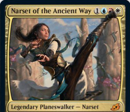 【Narset of the Ancient Way】MTG「イコリア:巨獣の棲処」収録のPWナーセットが公開!ジェスカイ(白青赤)カラーのプレインズウォーカー!