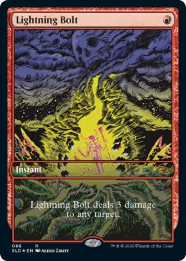 Alexis Ziritt新規アートの《稲妻/Lightning Bolt》(MTG「Secret Lair」収録)