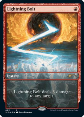 Noah Bradley新規アートの《稲妻/Lightning Bolt》(MTG「Secret Lair」収録)