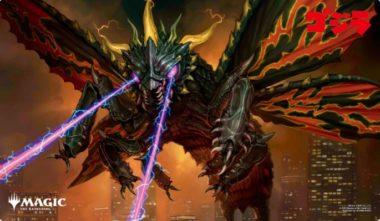 暗黒破壊獣、バトラ:エンスカイ「ゴジラシリーズ」プレイマット