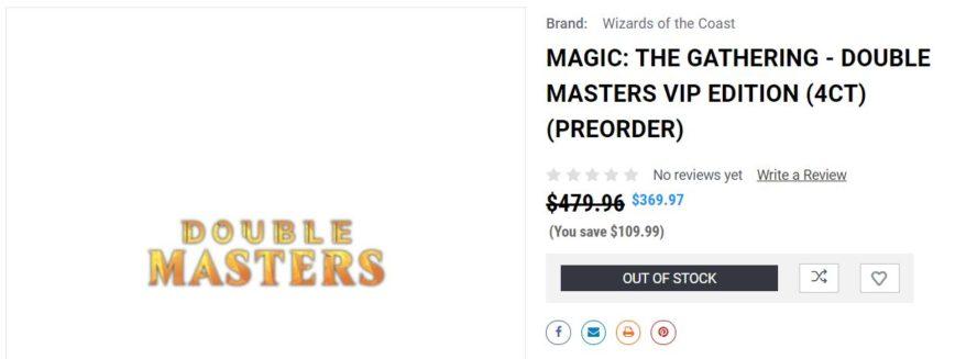MTG「ダブルマスターズ」のVIP版BOX:gamenerdz.com