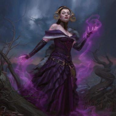 アート:死の魔道士、リリアナ(Liliana, Death Mage)