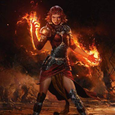 アート:炎の触媒、チャンドラ(Chandra, Flame's Catalyst)