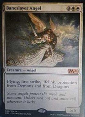 悪斬の天使(Baneslayer Angel):MTG「基本セット2021」非公式スポイラーより