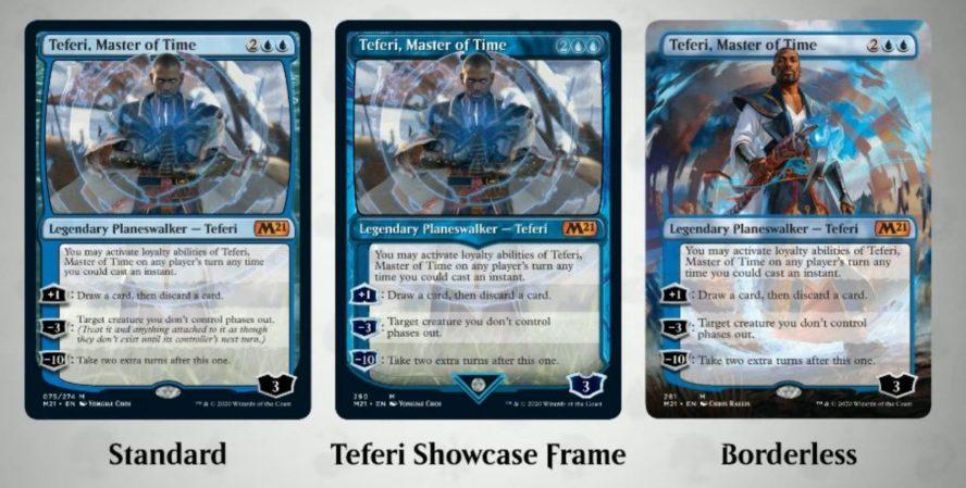 3種類のTeferi, Master of Time(通常版&ショーケース版&ボーダーレス)