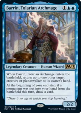 Barrin, Tolarian Archmage(基本セット2021)