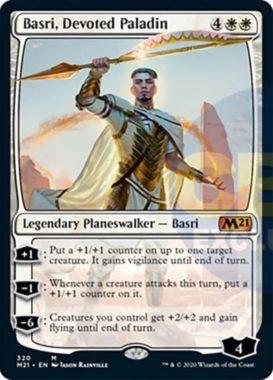 Basri, Devoted Paladin(基本セット2021 プレインズウォーカーデッキ)