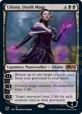 Liliana, Death Mage(基本セット2021 プレインズウォーカーデッキ)