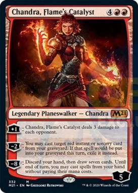 Chandra, Flame's Catalyst(基本セット2021 プレインズウォーカーデッキ)