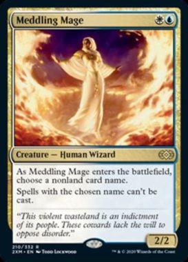 翻弄する魔道士(Meddling Mage)ダブルマスターズ
