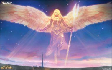PC壁紙【アート】希望の天使アヴァシン(拡張アート版/ダブルマスターズ)