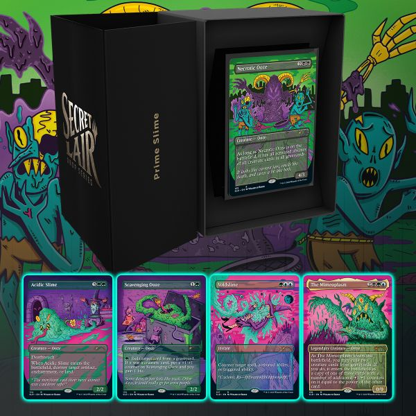 【Prime Slime】MTG「Secret Lair」の新製品「Prime Slime」が情報公開!5種のスライム関連カードが収録!