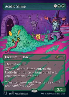酸のスライム(Acidic Slime):Secret Lair「Prime Slime」収録