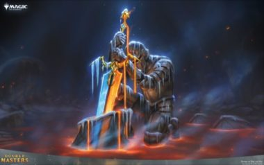PC壁紙【アート】火と氷の剣(拡張アート版/ダブルマスターズ)