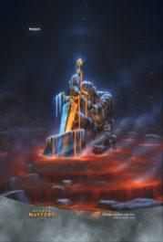 スマホ壁紙【アート】火と氷の剣(拡張アート版/ダブルマスターズ)