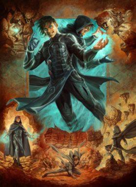 アート・ボーダーレス版:鏡映魔道士、ジェイス(Jace, Mirror Mage)ゼンディカーの夜明け