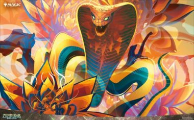 PC壁紙 【アート】水蓮のコブラ(ショーケース版/ゼンディカーの夜明け)