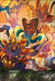 スマホ壁紙 【アート】水蓮のコブラ(ショーケース版/ゼンディカーの夜明け)