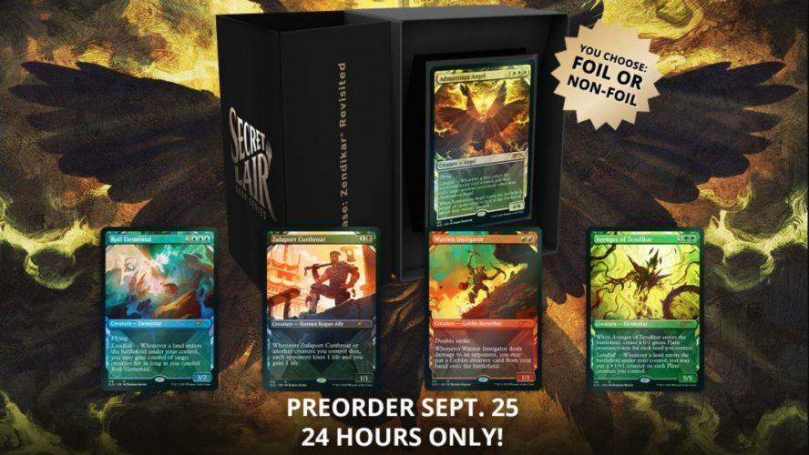 【Zendikar Revisited】MTG「Secret Lair」の新製品「Zendikar Revisited」が情報公開!5種のゼンディカー関連カードが収録!