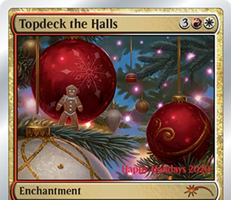 2019年ホリデーギフトプロモ「Topdeck the Halls」が公開!デコレーションされたカードを強化する銀枠プロモ!