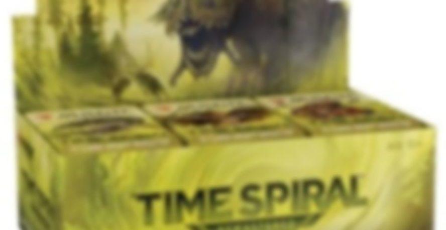 MTG「時のらせんリマスター」のボックスとみられる画像が非公式スポイラーに掲載!タルモゴイフの新規アートとみられる画像や収録カードが描かれたパック画像も!