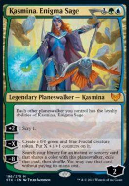 英語版の謎の賢者、カズミナ(Kasmina, Enigma Sage)
