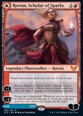 英語版の火花の学者、ローアン(Rowan, Scolar of Sparks)