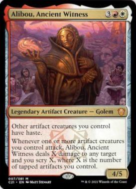 Alibou, Ancient Witness(統率者2021:ストリクスヘイヴン 統率者デッキ)