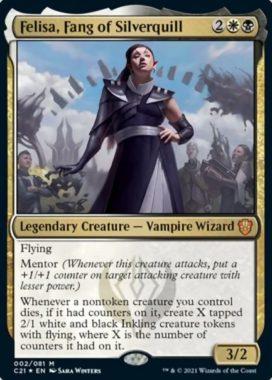 Felisa, Fang of Silverquill(統率者2021:ストリクスヘイヴン 統率者デッキ)